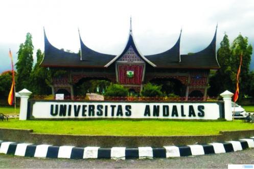 Gerbang Kampus Unand di kawasan Limau Manis, Kota Padang. NET