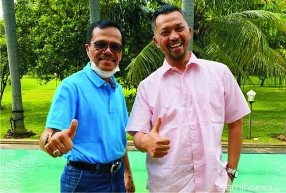 Joni Hendri dan Safaruddin Dt. Bandaro Rajo. IST