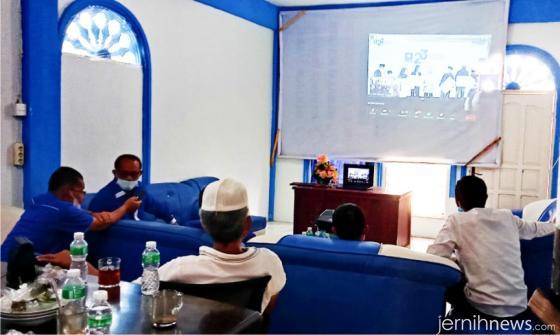 Peringatan HUT PAN ke-23 yang dilaksanakan secara daring juga diikuti oleh para pengurus DPD PAN Limapuluh Kota. ERZ